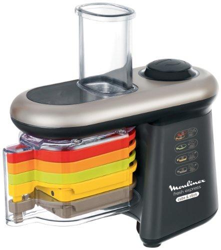 Moulinex-DJ905810-Fresh-Express-Cube-and-Stick-Mandoline-Electrique-5-Fonctions-de-Dcoupe-NoirArgent-0