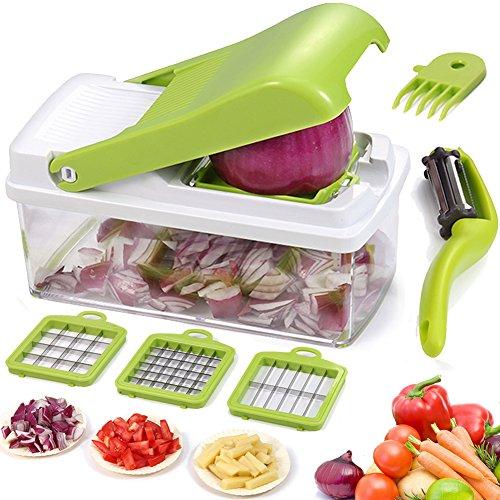 Artbest-Chopper–Lgumes-Trancheuse–Fruits-Dicer-Hachoir-Dicer-Rpe-Cutter-Manuel-Oignon-Shredder-Fruit-Cutter-avec-3-Lames-en-Acier-Inoxydable-0