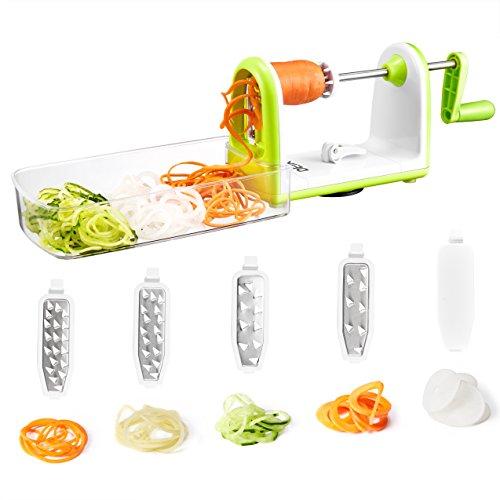Spiralizer-5-lames-Coupe-lgumes-spirale-de-lgumes-DEIK-pliable-trancheuse-spirale-Dcoupe-lgumes-facile–utiliser-avec-bote-de-rangement-pour-transformer-vos-fruits-et-lgumes-en-spirales-juliennes-spag-0