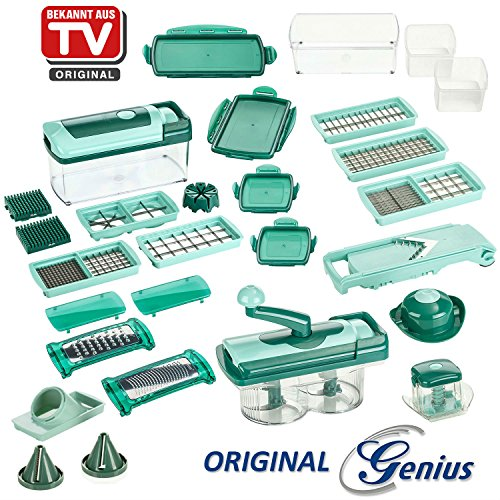 Prix-daction-Genius-Nicer-Dicer-Coupe-lgumes-Fusion-julietti-Set-de-34tlg-Neuf-0