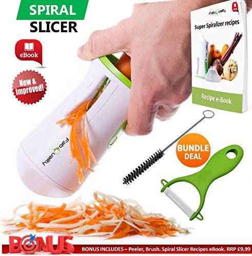 FabQuality-Premium-spiraliseur-Veggetti-Coupe-lgumes-Spirale-vgtale-SPCIAL-T-Trancheuse–spirale-bundle-complet-Coupe-lgumes-GRATUIT-BONUS-Courgette-Ptes-et-nouilles-Spaghetti-Spiralizer-amliore-Spira-0