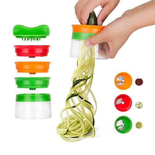 Linkax-Coupe-lgumes-3-Lames-Rpe-Lgumes-Spiraliseur-de-lgumes-trancheuse-spirale-main-pour-lgumes-Pommes-de-terre–spaghetti-concombre-Rpe-plucheur-Carottes-Mandoline-0