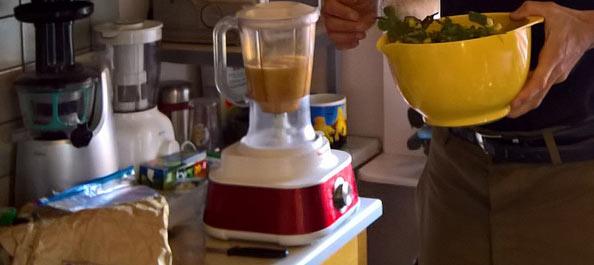 préparation de smoothie
