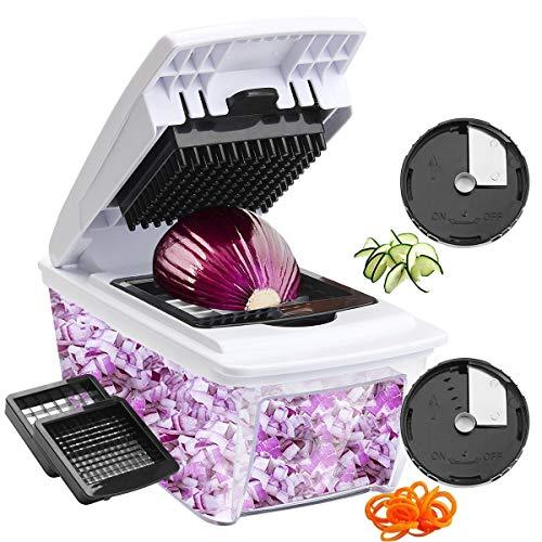 Corafei-Mandoline-Cuisine-4-en-1-Multifonction-Trancheuse-Coupe-Lgumes-Fruits-Patate-Slicer-Concombre-Spirale-4-Lames-en-INOX-Interchangeables-Utilisation-Rapide-0