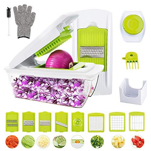 Mandoline-CuisineWOKOKO-8-en-1-Multifonction-Professionnelle-Coupe-lgumes-coupe-fruits-coupe-pommes-de-terre-avec-des-couteaux-Gants-pour-couper-en-dstrancher-raboterrperfaire-ronger-les-uf-0